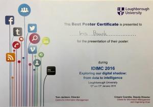 IDIMC award