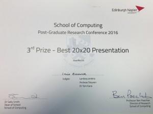 SocPhD 20x20 prize